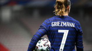 L'attaquant des Bleus Antoine Griezmann, lors du match amical de l'équipe de France contre le Pays de Galles. (FRANCK FIFE / AFP)