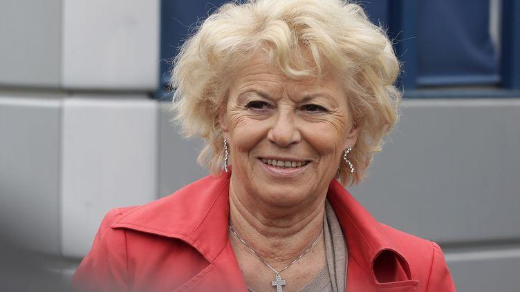 Marie-Christine Arnautu, le 4 mai 2015, au siège du Front national à Nanterre (Hauts-de-Seine). (MAXPPP)