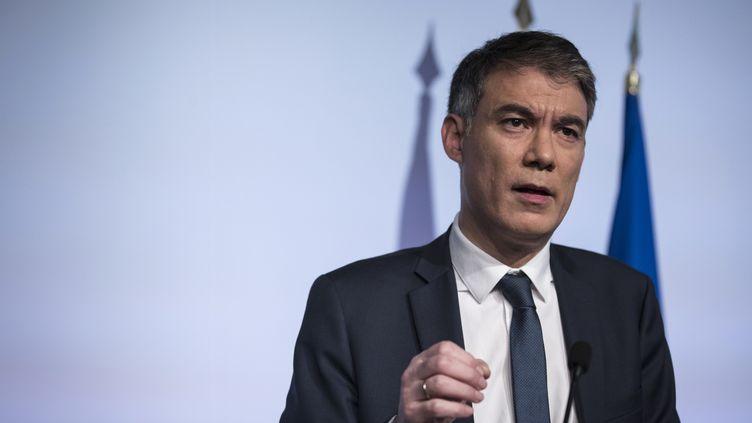 Olivier Faure, premier secrétaire du PS, à Ivry-sur-Seine dans le département du Val-de-Marne, le 21 janvier 2020. (THOMAS SAMSON / AFP)