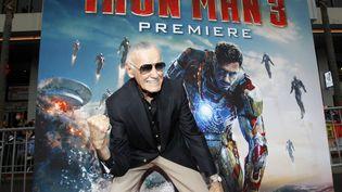 """Stan Lee, lors d'une avant-première de """"Iron Man 3"""" à Hollywood, en avril 2013. (MARIO ANZUONI / REUTERS)"""