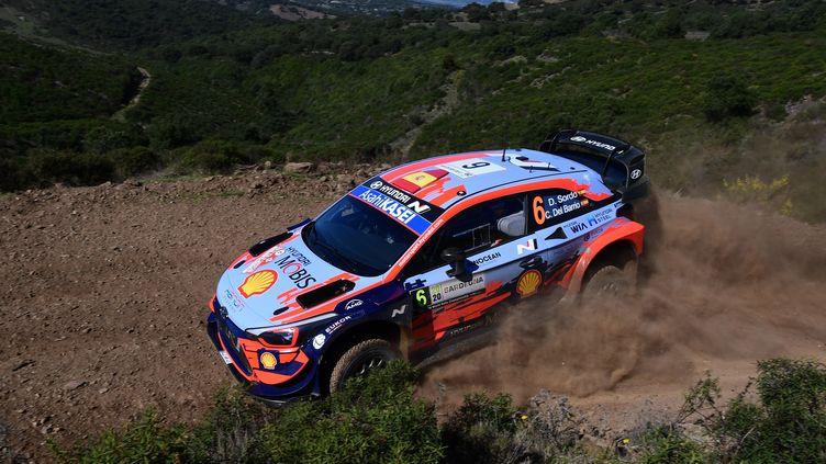La Hyundai i20 WRC du pilote espagnol Dani Sordo (MIGUEL MEDINA / AFP)