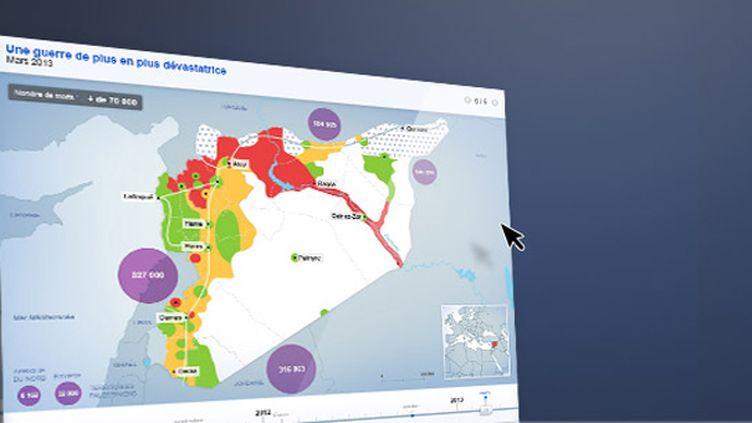 Carte syrie. (FRANCETV INFO)