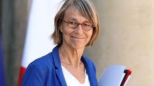 La ministre de la Culture Françoise Nyssen quitte l'Elysée, le 3 août 2018. (MUSTAFA YALCIN / ANADOLU AGENCY / AFP)