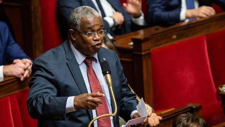 Mansour Kamardinelors des questions au gouvernement à l'Assemblée nationale à Paris, le 26 novembre 2019. (AURELIEN MORISSARD / MAXPPP)