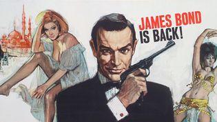 "Détail de l'affiche du film James Bond ""Bons baisers de Russie"" (1963).  (2015 Metro-Goldwyn-Mayer Studios Inc. and Danjaq, LLC. All Rights Reserved.)"