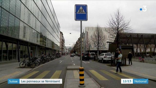 Suisse : les panneaux de signalisation se féminisent