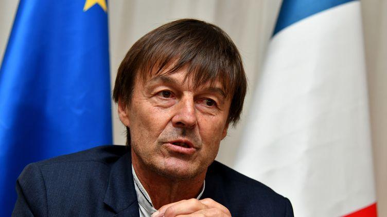 Le ministre de la Transition écologique et solidaire, Nicolas Hulot, au G7 de l'environnement à Bologne (Italie), le 12 juin 2017. (ALBERTO PIZZOLI / AFP)