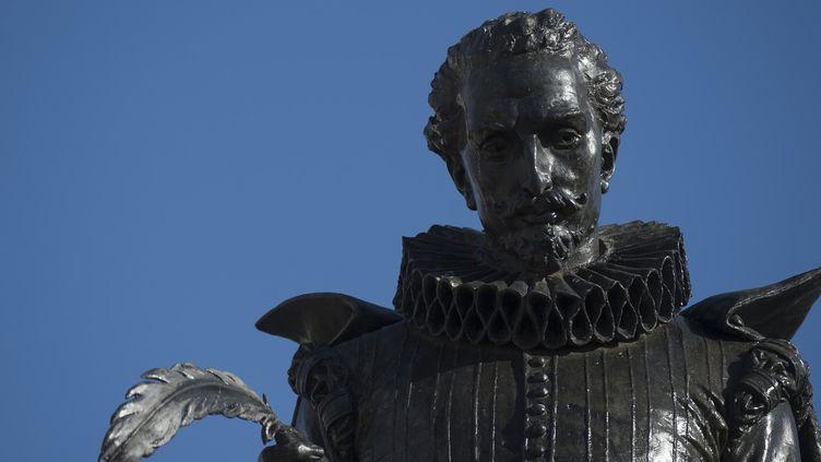 """Statue représentant """"Don Quichotte"""" de Cervantes, près de Madrid  (CURTO DE LA TORRE / AFP)"""