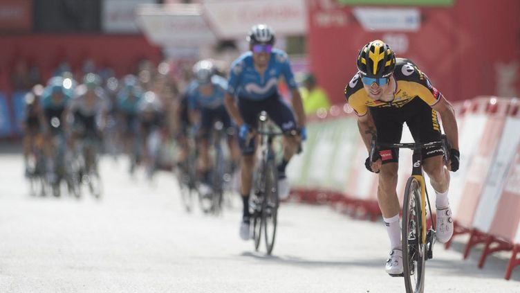 Primoz Roglic récupérat'il le maillot rougelors de la 14e étape du Tour d'Espagne,samedi 28 août 2021 ? (JORGE GUERRERO / AFP)