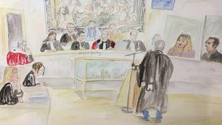 La cour d'assises de Riom (Puy-de-Dôme), lors du procès Fiona, le 25 novembre 2016. (ELISABETH DE POURQUERY / FRANCEINFO)