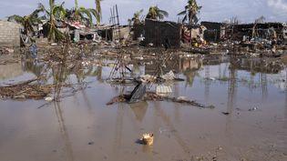 A Beira (Mozambique) le 23 mars 2019, une dizaine de jours après le passage du cyclone Idai. (WIKUS DE WET / AFP)