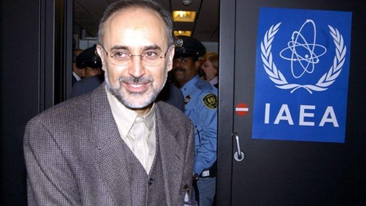 Ali Akbar Salehi à l'Agence internationale de l'énergie atomique en novembre 2003 (© AFP)
