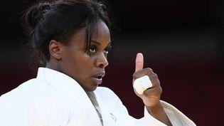Madeleine Malonga agagné sa place en finale des Jeux de Tokyo, le 29 juillet 2021. (FRANCK FIFE / AFP)