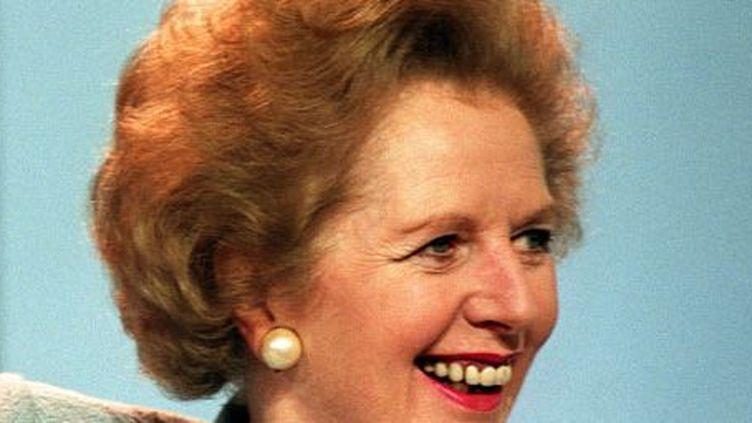La Première ministre britannique Margaret Thatcherà Blackpool, le 10 octobre 1989, assiste à une réunion du parti conservateur. (AFP/JOHNNY EGGITT)