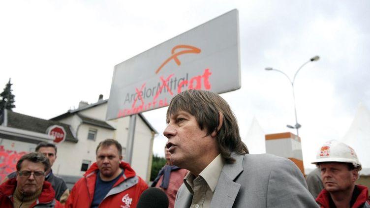 Bernard Thibault à Florange (Moselle), le 3 octobre 2012. (JEAN-CHRISTOPHE VERHAEGEN / AFP)