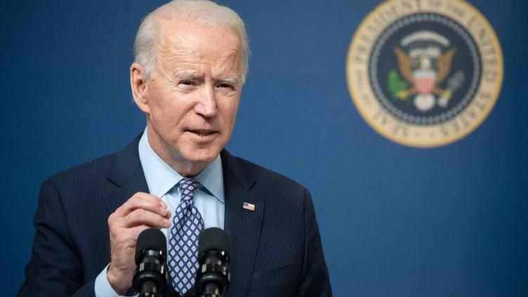 Joe Biden, le président américain, le 25 février 2021 (SAUL LOEB / AFP)