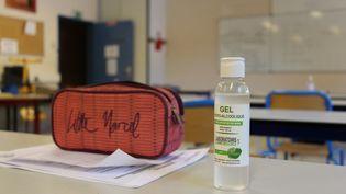 Une salle de classe du collège de Jastres à Aubenas en Ardèche. (CLAIRE LEYS / FRANCE-BLEU DRÔME-ARDÈCHE)