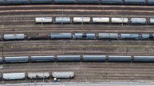Des trains de fret, à Paris, le 11 juillet 2019. (KENZO TRIBOUILLARD / AFP)