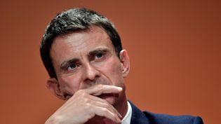 Manuel Valls à Paris, le 5 mai 2017. (PHILIPPE LOPEZ / AFP)