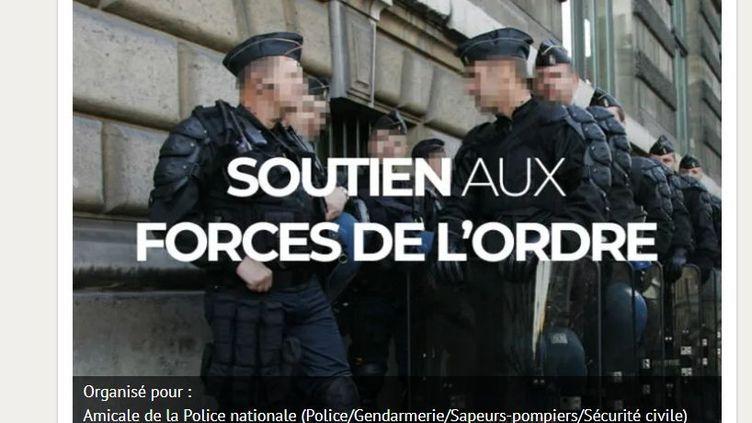 """La cagnotte en soutien aux forces de l'ordre blessées lors des manifestations des """"gilets jaunes"""" a dépassé les 860 000 euros, jeudi 10 janvier 2019. (LEETCHI)"""