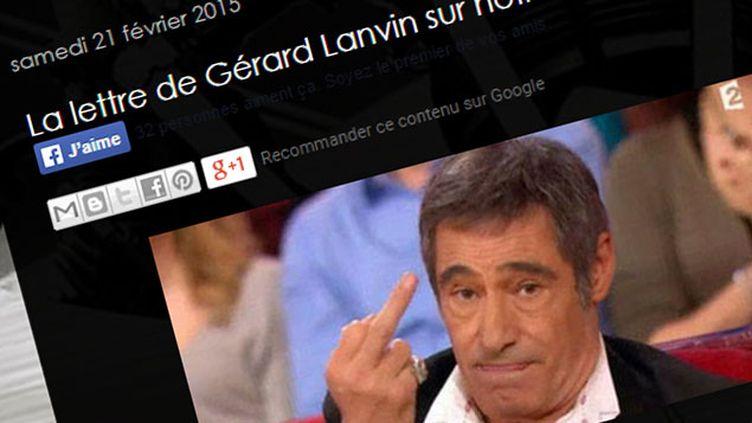 (Une fausse lettre attribuée à Gérard Lanvin est largement partagée depuis deux ans © DR)