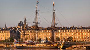 L'Hermione amarrée à Bordeaux en mars dernier (PHILIPPE ROY / AURIMAGES / PHILIPPE ROY)