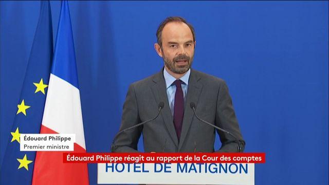 Edouard Philippe réagit au rapport de la Cour des comptes