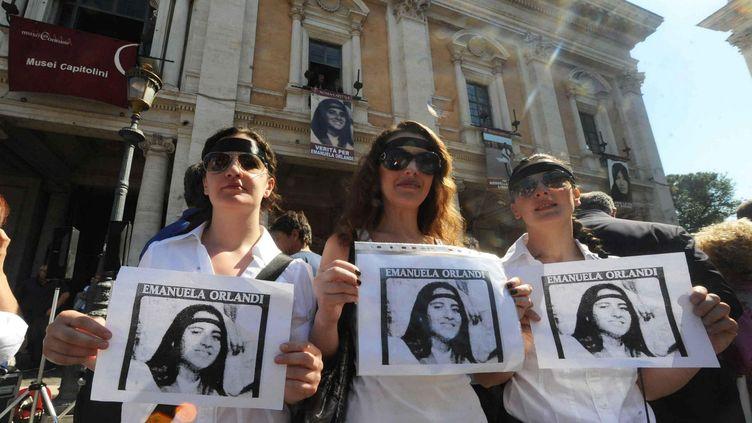 La famille et les proches d'Emanuela Orlandi se mobilisent depuis 36 ans pour connaître la vérité. (ROMA'S / FOTOGRAMMA/GIACOMINOFOT / MAXPPP)