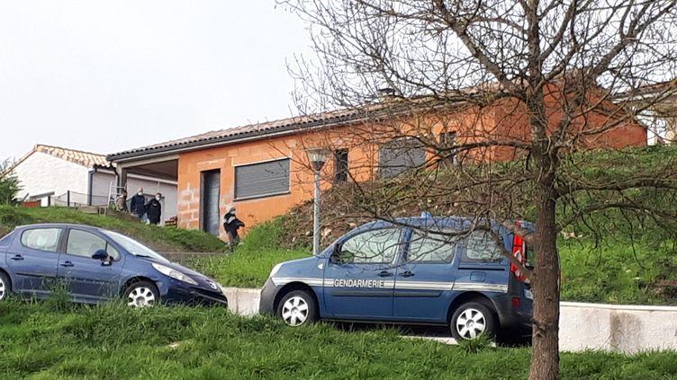 Le domicilede Delphine Jubillar à Cagnac-les-Mines dans le Tarn, disparue depuis la nuit du 15 décembre. (PASCALE DANYEL / FRANCE-BLEU OCCITANIE)