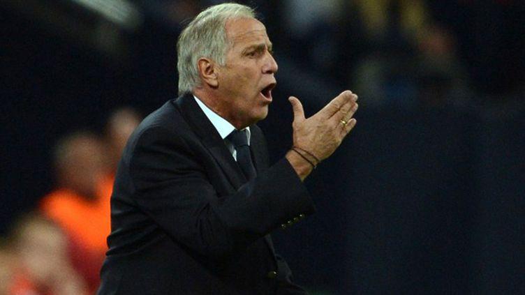 René Girard l'entraîneur de Montpellier (JOHANNES EISELE / AFP)