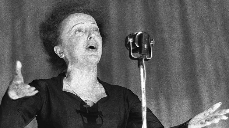 Edith Piaf en 1960 à l'Olympia  (STF / AFP)