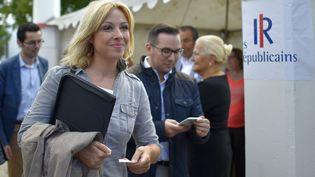 Florence Portelli, candidate à la tête du parti Les Républicains. (LOIC VENANCE / AFP)