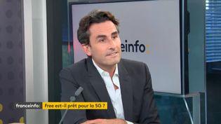 Thomas Reynaud, directeur général du groupe Iliad, maison-mère de Free. (FRANCEINFO / RADIOFRANCE)