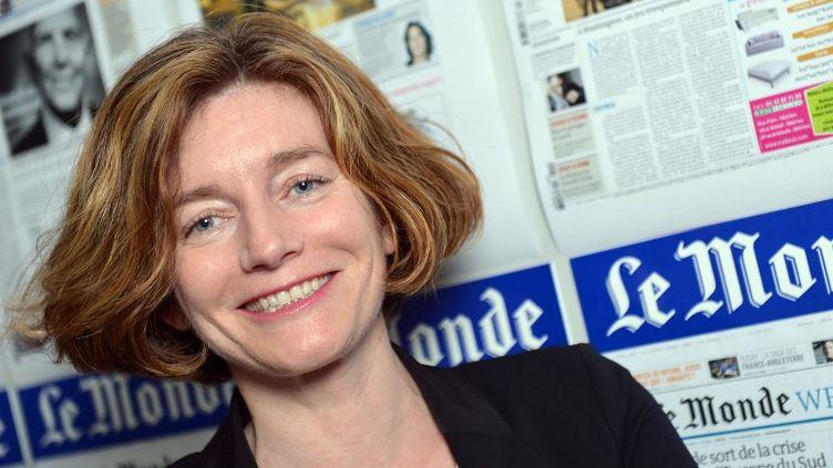 """Natalie Nougayrède, dans les locaux de la rédaction du""""Monde"""", le 7 mars 2013 à Paris. (MIGUEL MEDINA / AFP)"""