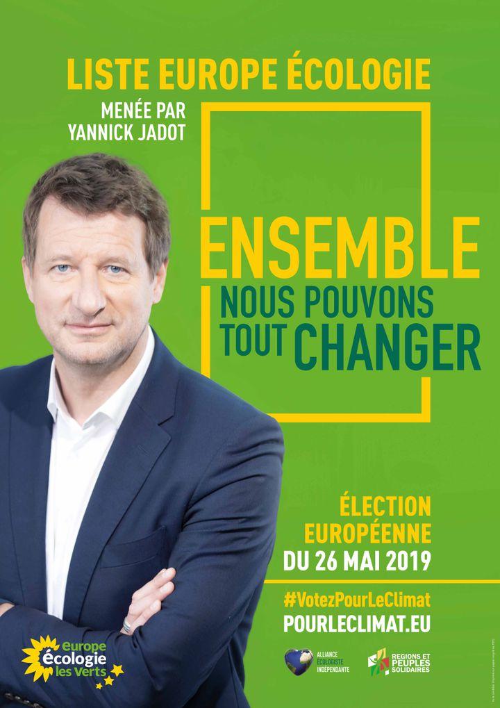 L'affiche de la liste Europe Écologie-les Verts pour les européennes 2019. (FRANCEINFO)