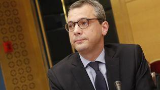 Le secrétaire général de l'Elysée, Alexis Kohler, devant la commission d'enquête du Sénat, le 26 juillet 2018. (FRANCOIS GUILLOT / AFP)