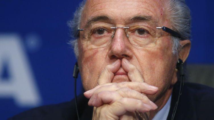 Le président de la Fifa Sepp Blatter, à Zurich (Suisse), le 30 mai 2015. (ARND WIEGMANN / REUTERS)