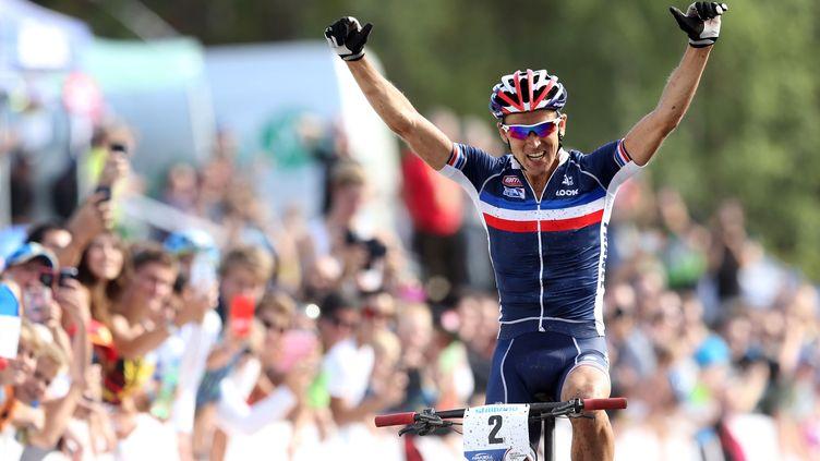 Julien Absalon, champion d'Europe du VTT. (GEIR OLSEN / NTB SCANPIX)