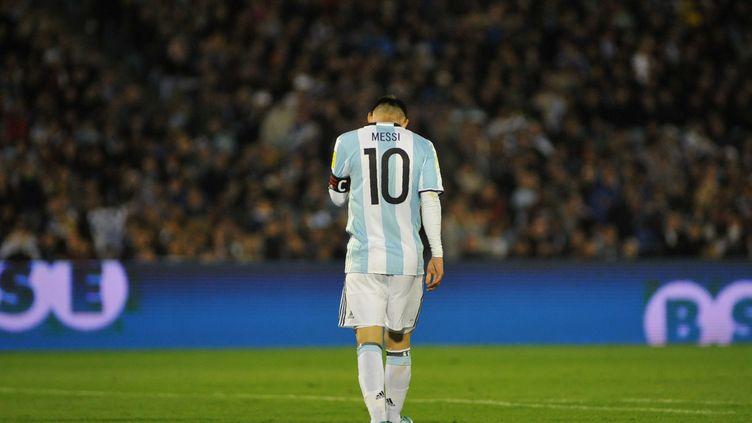 Lionel Messi et l'Argentine n'y arrivent plus (DANTE FERNANDEZ / AFP)