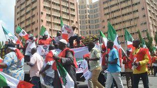 Manifestation le 18 mai 2016 à Lagos afin de réclamer une baisse des prix de l'essence. (AFP/PIUS UTOMI EKPEI )