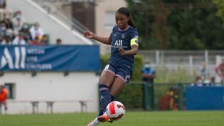 Grace Geyoro a inscrit le deuxième but parisien face à Breidablik en Ligue des champions. (FRANCO ARLAND / HANS LUCAS)