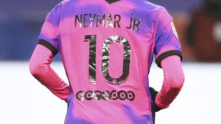 Neymar à Lyon, le 21 mars 2021 (JEAN CATUFFE / DPPI VIA AFP)