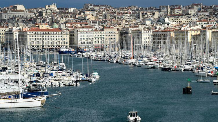 Le Vieux-Portde Marseille, le 19 février 2021. (NICOLAS TUCAT / AFP)