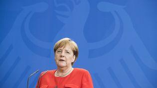 La chancelière allemande Angela Merkel à Berlin (Allemagne), le 5 juillet 2018. (EMMANUELE CONTINI / NURPHOTO / AFP)