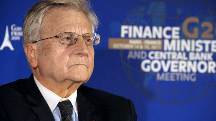Jean-Claude Trichet lors du G20, à Paris, le samedi 15 octobre 2011. (ERIC PIERMONT / AFP)