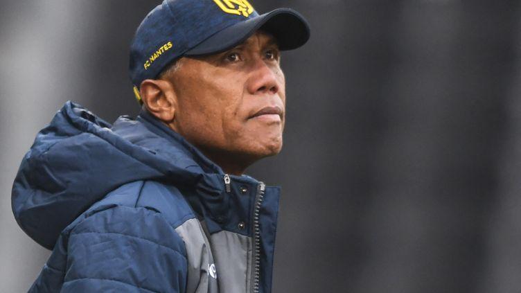 L'entraîneur du FC Nantes Antoine Kombouaré lors du match contre Angers (Maine-et-Loire) le 14 février 2021 (JEAN-FRANCOIS MONIER / AFP)