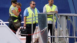 Des agents Frontex en Grèce à destination de la Turquie. (STRINGER / AFP)