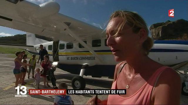 Saint-Barthélémy : les habitants tentent de fuir l'île