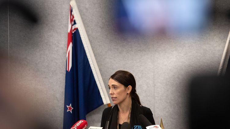 La Première ministre néo-zélandaise, Jacinda Ardern, le 16 mars 2019 à Christchurch (Nouvelle-Zélande). (MARTY MELVILLE / OFFICE OF PRIME MINITER NEW ZEAL / AFP)
