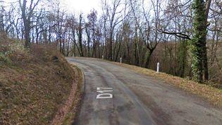La route départementale 17 à la sortie de Puisseguin (Gironde), au lieu présumé de l'accident entre un car et un camion qui a fait au moins 42 morts, le 23 octobre 2015. ( GOOGLE STREET VIEW)